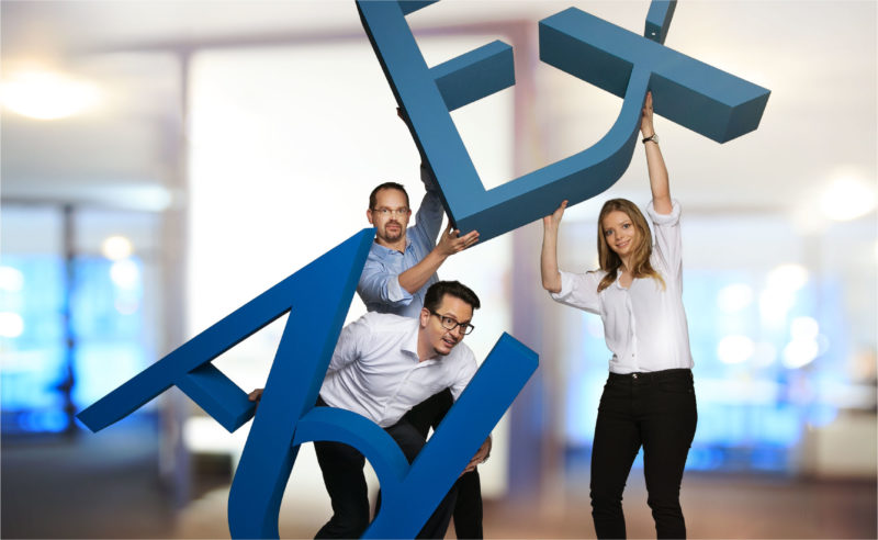 For AdEx we turn employees and letters into top models