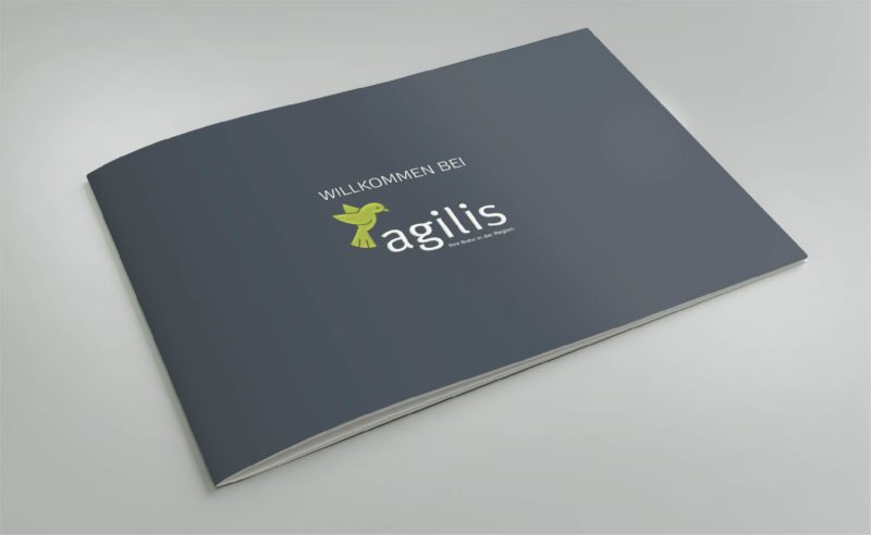 This image brochure takes a look behind the scenes at agilis.