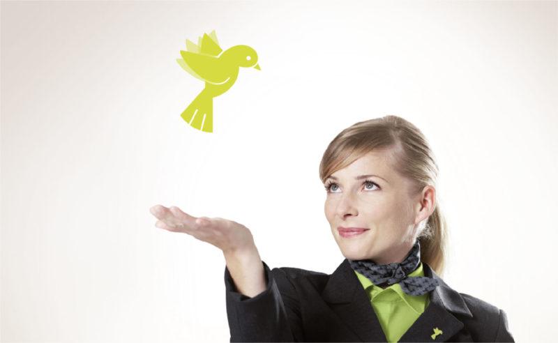 Der Flirt mit dem Bird wird zum echten Hit in der agilis Kampagne