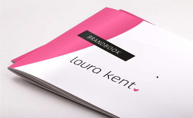 What does a brandbook for fashion with heart and lady look like?