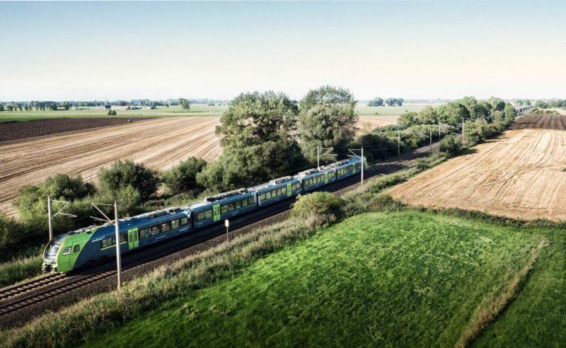 Das Züge wirklich gut aussehen können, zeigt das aktuelle nordbahn Zug-Branding